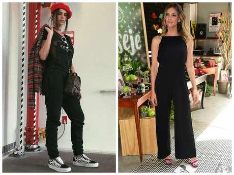 Bruna Marquezine e Fernanda Lima vestem macacão preto (Fotos: Instagram/Reprodução - Leo Franco/AgNews)