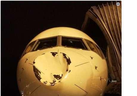 O avião estava a 30 mil pés de altura (cerca de 9.100 metros) quando foi atingido.