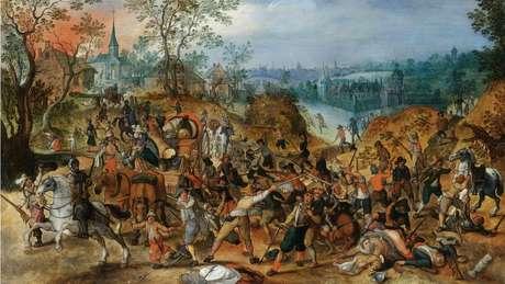 Pintura mostrando a guerra dos 30 anos