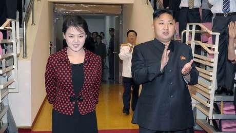 Kim Jong-un e Ri Sol Ju.