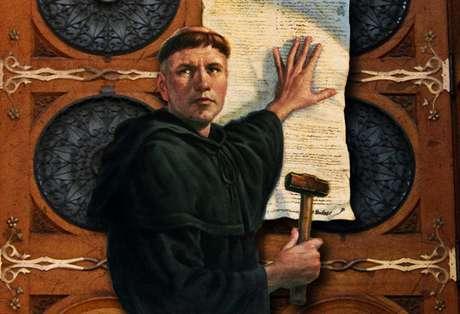 O monge alemão Martinho Lutero