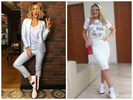 Giovanna Ewbank e Íris Stefanelli usam calçado igual (Fotos: Instagram/Reprodução)