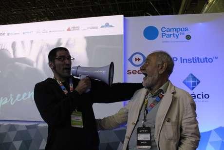 Alexandre de Souza (esquerda) e Francesco Farruggia (direita), presidente do Instituto Campus Party