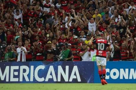 Diego marcou o primeiro gol da partida (Foto: Gilvan de Souza/Flamengo)