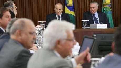 Presidente Michel Temer e ministros