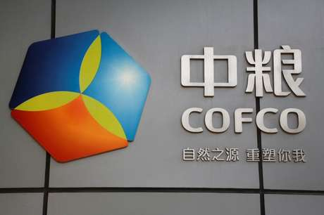 Logo da China Oil and Foodstuffs Corporation (COFCO) na sede da empresa em Pequim, na China 03/11/2016 REUTERS/Thomas Peter