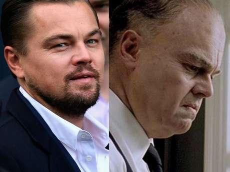 Leonardo DiCaprio também envelheceu com a caracterização para o longa 'J. Edgar'
