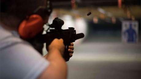 Fuzil é disparado