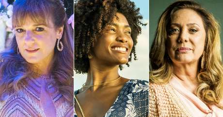 As amigas Lorena (Sandra Corveloni) e Nádia (Eliane Giardini) entre a empregada Raquel (Érika Januza): é melhor que os filhos brancos não se casem com negros