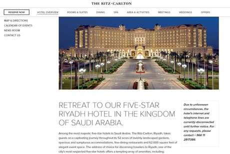 Foto: site do Ritz-Carlton em Riad