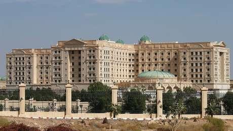 O hotel Ritz-Carlton em Riad, Arábia Saudita