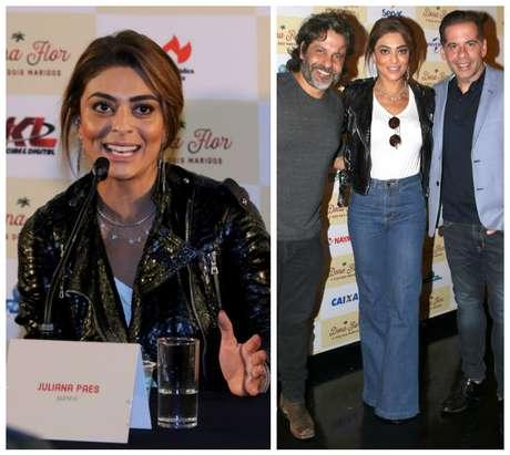 Pedro Vasconcelos, Juliana Paes e Leandro Hassum (Fotos: Thiago Duran/AgNews)
