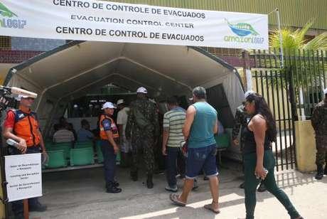 Centro de acolhida de refugiados durante exercícios do AmazonLog 2017, que simula crise humanitária decorrente de uma imaginária seca na região da tríplice fronteira