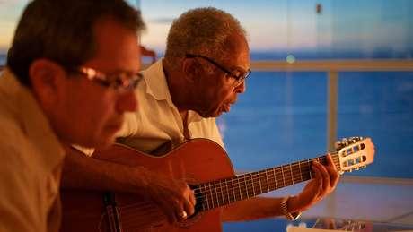 Aldo Brizzi e Gilberto Gil em Salvador