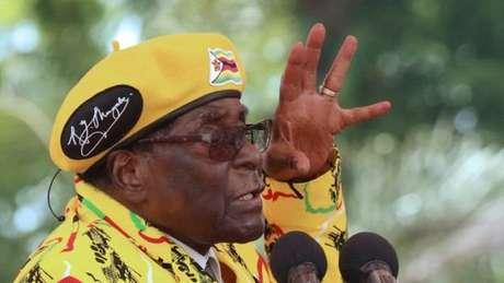 O presidente do Zimbábue está no poder desde 1980