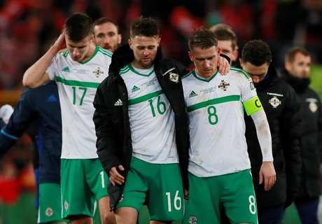 Norte-irlandeses lamentam por não terem conseguido a classificação em embate contra a Suíça