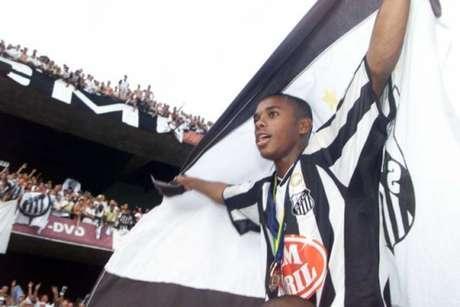 Robinho no título brasileiro em 2002