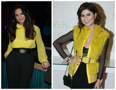 Luiza Brunet e Julianne Trevisol de amarelo e preto (Fotos: AgNews)