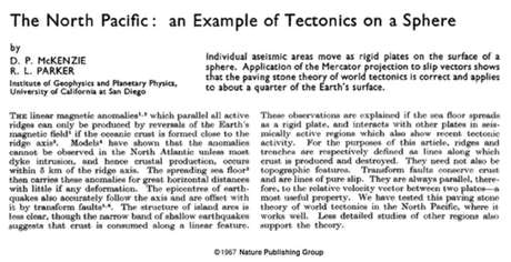 artigo de McKenzie publicado na Nature