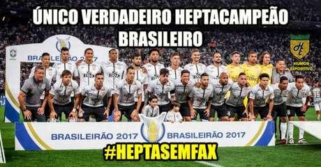 A zoeira corintiana após o heptacampeonato brasileiro