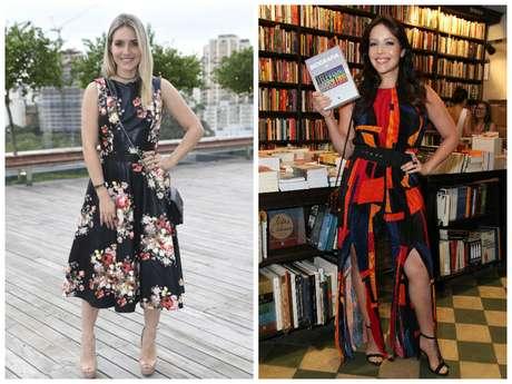 Monique Alfradique e Renata Dominguez (Fotos: Leo Franco/Wallace Barbosa/AgNews)