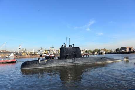 O submarino ARA San Juan, da Marinha argentina, desapareceu com 44 tripulantes a bordo.