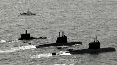 Três submarinos argentinos