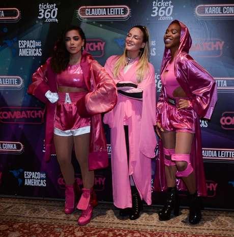 Anitta, Claufia Leitte e Karol Conka (Fotos: Francisco Cepeda/AgNews)
