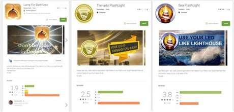 Exemplos de aplicativos que carregam o BankBot (Imagem: Avast)