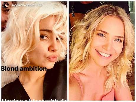 Sophie Charlotte e Letícia Colin apostam em cabelos platinados (Fotos: Instagram/Reprodução)
