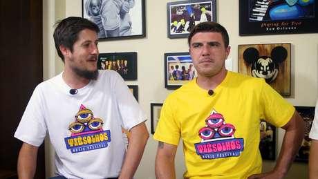 Denis Fonseca e Felipe Vaccari, produtores do Três Olhos Music Festival