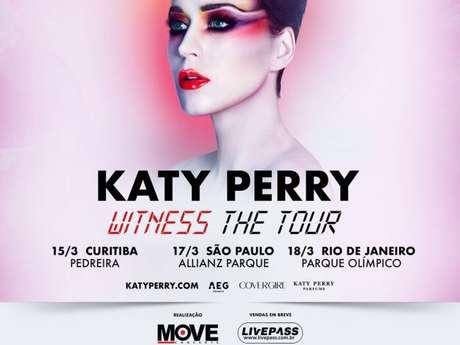 Katy Perry confirma turnê no Brasil!