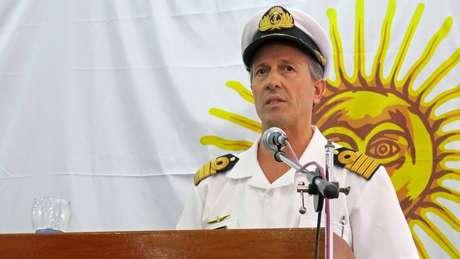 Balbi, porta-voz da Marinha, confirmou que teria ocorrido uma explosão na área onde o submarino estaria quando fez a última comunicação com a base