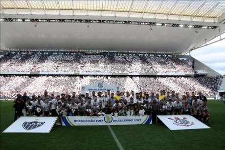 Em jogo de festa, Corinthians empata em 2 a 2 com o Atlético-MG, na Arena (Foto: Luis Moura/WPP)