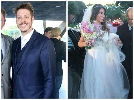 Fabio Porchat e Nataly Mega (Fotos: Daniel Delmiro/AgNews)