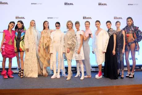 Modelos no desfile do Sesc Fashion Brasil