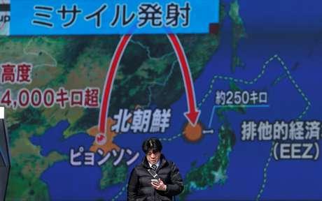 Resultado de imagem para Coreia do Norte diz que teste de míssil teve reentrada bem-sucedida de ogiva na atmosfera