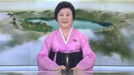 Informações sobre o teste foram lidas na TV pela apresentadora norte-coreana Ri Chun Hee, normalmente responsável pelos comunicados importantes