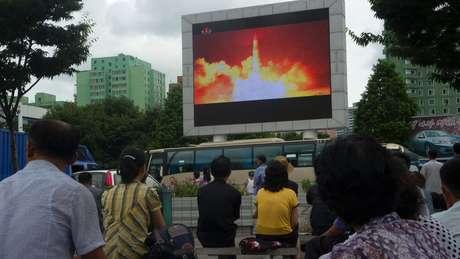 Testes de míssil são anunciados amplamente pelo governo da Coreia do Norte
