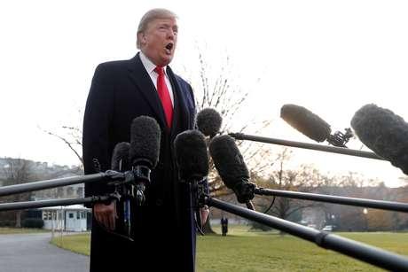 Trump fala na Casa Branca  4/12/2017   REUTERS/Jonathan Ernst