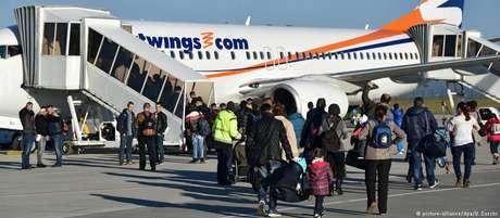 Maioria dos voos cancelados deveria partir do aeroporto de Frankfurt