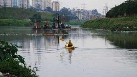 Índice de oxigenação do Tietê é zero no trecho que corta São Paulo | Foto: Caue Taborda/SOS Mata Atlântica