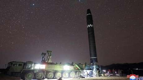 Kim Jong-un assegurou que seus mísseis têm capacidade de atingir qualquer parte do território norte-americano
