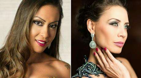 A oriental Paty Sayuri e a europeia Valquíria Melnik: belezas da TV no mundo fashion.