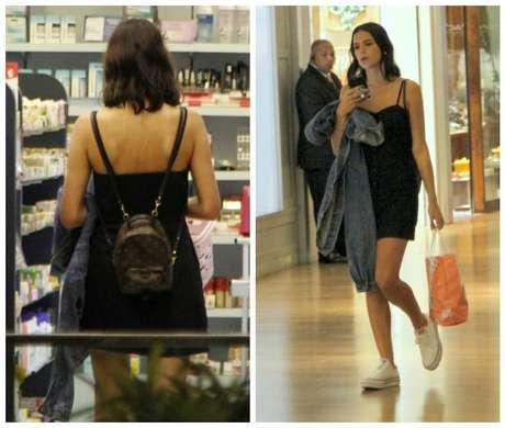 Look informal de Bruna Marquezine no shopping (Fotos: Delson Silva/AgNews)