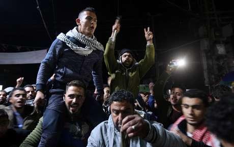 Palestinos reagem a anúncio de Trump na Faixa de Gaza  6/12/2017    REUTERS/Ibraheem Abu Mustafa