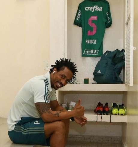 Arouca antes de seu último jogo pelo Palmeiras, contra a Ponte Preta - FOTO: Cesar Greco