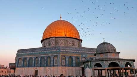 A Cúpula da Rocha, em Jerusalém, é um dos lugares mais sagrados do Islã