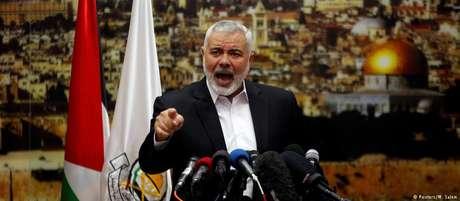 """""""Façamos do 8 de dezembro o primeiro dia da nova intifada"""", afirmou o líder do Hamas,  Ismail Haniyeh"""