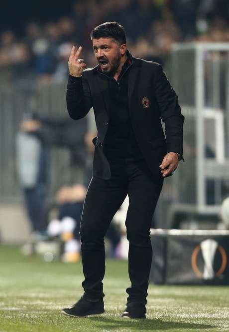 Gattuso segue sem vencer no comando do Milan